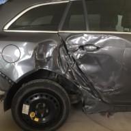 Après l'accident de la carrosserie
